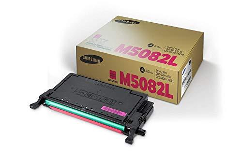 Samsung CLT-M5082L/ELS Original Toner (Hohe Reichweite, Kompatibel mit: CLP-620/CLP-670/CLX-6220/CLX-6250 Series) magenta