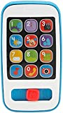 Fisher-Price Laugh & Learn Smart Phone Blue, Light-up Musical Pretend Phone for Infants and Toddlers