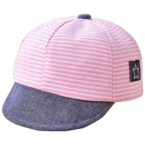 Snyemio Gorra de Béisbol Bebé Rayas Sombrero del Sol Anti UV Verano para Niño Niña