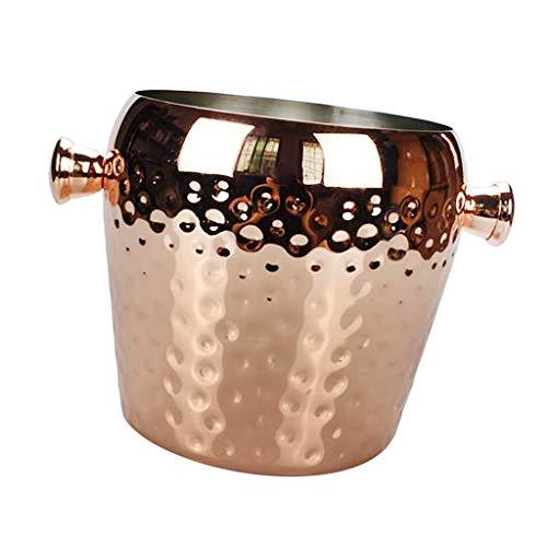 Cubo de hielo cubo de hielo champán vino bebidas refrigerador retro martillado fiesta bar Navidad 1L vino refrigerador cubo Moscú Mule taza Barware