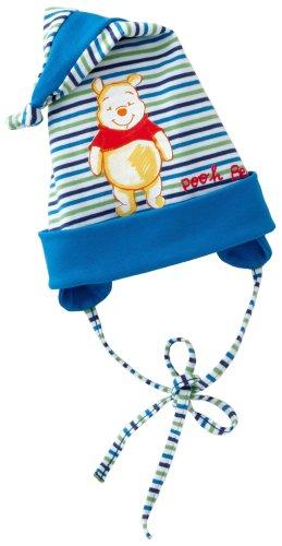 Disney 70247 - Winnie Pooh Mütze mit Ohrenklappen, Heavy Single Jersey Druck Größe 44 dunkelblau, FJSO09