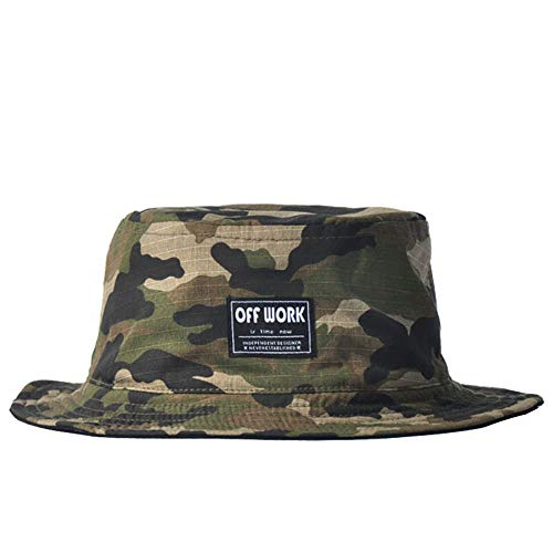 LQIQI Summer Cotton Unisex Bucket Hat Sonnenhüte Casual Cap to Beach/Wandern/Camping (Camo)