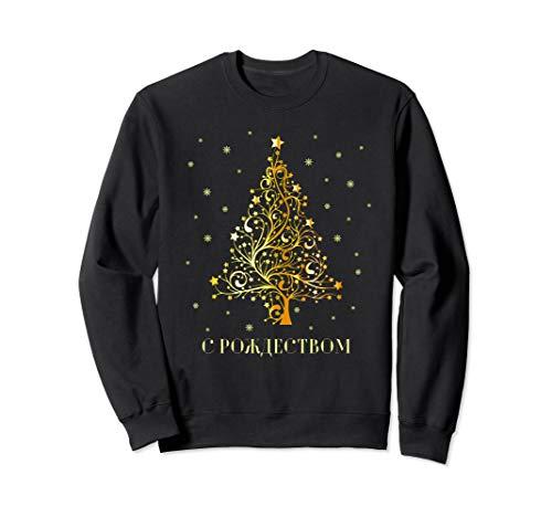 Russische Weihnachten Russischer Weihnachtsbaum Russland Sweatshirt