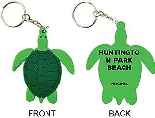 Huntington Park Beach Virginia Souvenir Green Turtle Keychain