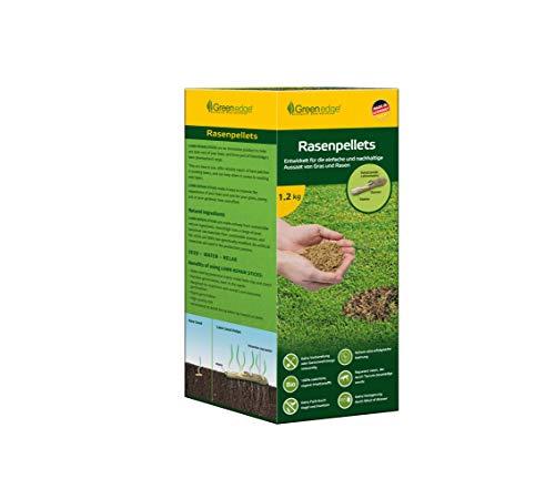 Greenedge Garten Rasenpellets Rasen - Rasensamen für robusten und widerstandsfähigen Rasen - Grassamen für 40 m² zur Einsaat und Nachsaat