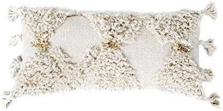 Casa Boho Decorative Max 48% OFF Lumbar Seasonal Wrap Introduction Pillow Throw Bohemian Cream