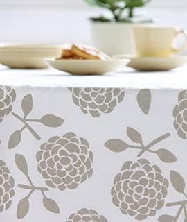 Dandi 10 Seater Tablecloth, Hydrangea Oatmeal