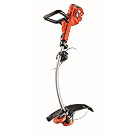 BLACK+DECKER GL7033-QS Coupe-bordures filaire – Poignée ajustable 5 positions 700W, Noir, Rouge, 33 cm