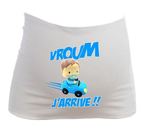 YONACREA - Bandeau de Grossesse - Bébé Garçon en Voiture - J'arrive - Humour