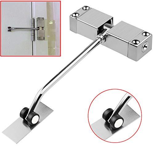 Delleu Automatischer Türschließer für den privaten und leichten gewerblichen Gebrauch, Verstellbarer hydraulischer Türschließer mit Scharnier