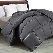 Utopia Bedding Bettdecke 200 x 200 cm - Zudecke 1500g Füllung - Gesteppte Steppdecke (Grau, 200 x 200 cm)