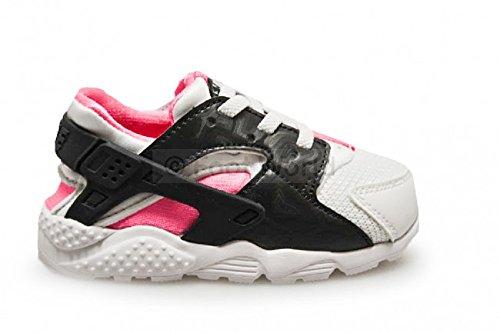 Nike Baby-Mädchen Huarache Run (TD) Sneakers, weiß Anthrazit Hypr Pink Blk, 25 EU