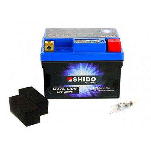 Shido LITHIUM-IONEN Batterie YTZ7S 12 Volt, SHIDO Motorrad Batterie | LiFePO4 | LI-YTZ7S passend für Keeway Outlook 125 Sport, SOTL012500, Bj. 2010-2012 [Preis ist inkl. Batteriepfand]