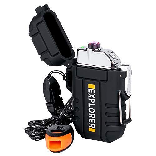 lcfun Plasma Lighter Waterproof Arc Lighter Windproof USB Electric Lighter Rechargeable with...