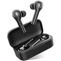 Auriculares Bluetooth con Modo de Juego, HOMSCAM Control Táctil Inteligent Auriculares Inalámbricos Bluetooth 5.0 HiFi Mini Twins Estéreo In-Ear Auriculares Sin Demora para iPhone, Android y PC