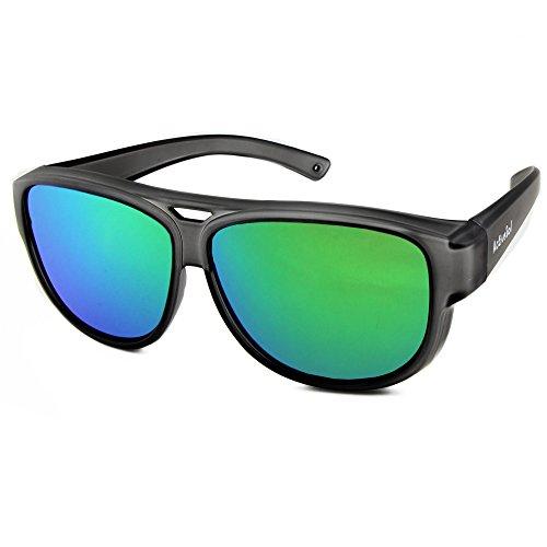 ActiveSol Design ÜBERZIEH-SONNENBRILLE | Flieger Brille | Sonnen-Überbrille UV400 Schutz | polarisiert | 24 Gramm (Grey Mirror)