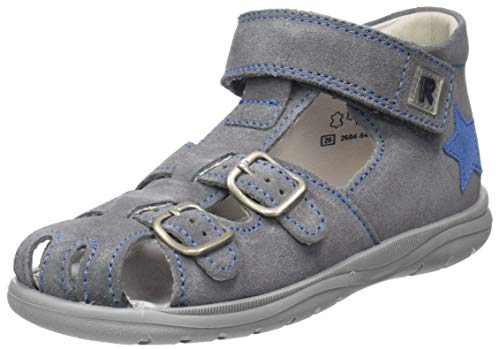 Richter kinderschoenen jongens Babel Derbys, grijs (ash/Pebble/Atlas 6301), 26 EU