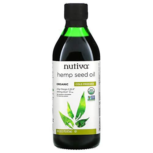 Nutiva Organic Cold-Pressed Hemp Seed Oil, 16 oz