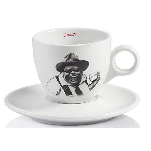 Liucaffe Cappuccinotasse schwarz /weiß neues Design