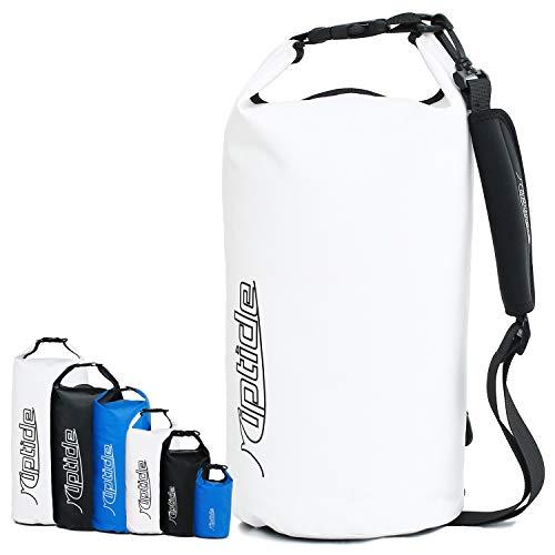 riptide Dry Bag - wasserdichter Packsack mit Umhängegurt | weiß | 40l