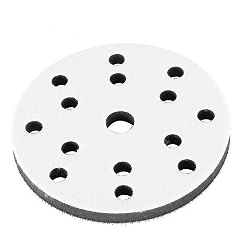 Almohadillas de lijado de esponja suave, función de amortiguación Lijado de tamaño pequeño Almohadilla suave a prueba de sacudidas(6 inch 15 holes)