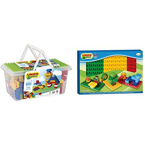 Falomir- Contenedor Juego de construcción, Multicolor (8502) + Juego de construcción para niños