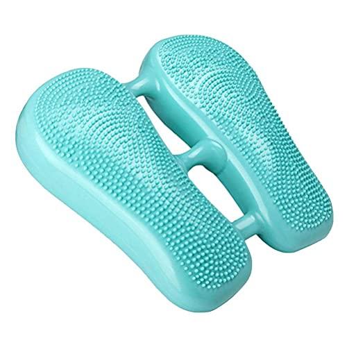 BTOSEP 2 en 1 Balance Stepper Mini Stepper Inflable para Mujeres PVC Puntos de Masaje Wobble Balance Cojín Tablero Foot Peddle Ejercitador, Ejercitador de Pedal Compacto, 33 * 37 * 6.8CM