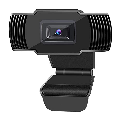 Autofocus 1080p Webcam, Live Streaming Camera with Microphone, PC Laptop Computer USB Web Cam for Video Calling Recording Conferencing