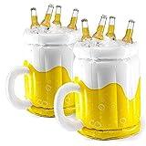 Kacniohen Aufblasbarer Bierkrug, 2ST Bar Eiseimer, schwimmend Row Cooling Bier Eimer Sommer Parteien Versorgung