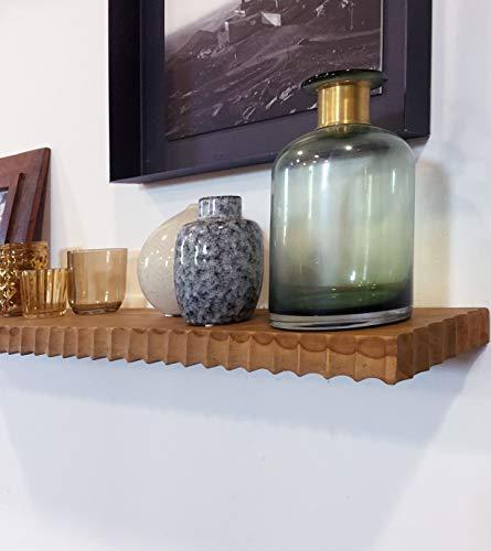 STUFF Loft Wandrek, zwevend rek, plank, wandplank, Eolisch van gerecycled hout, 90 cm