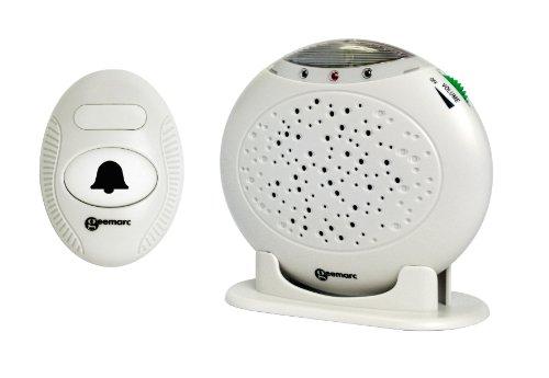 Geemarc Amplicall 16 zeer luide draadloze deurbel (maximaal 95 dB) met lichtflitser en tot 50 m bereik - ringflash - beltonversterker