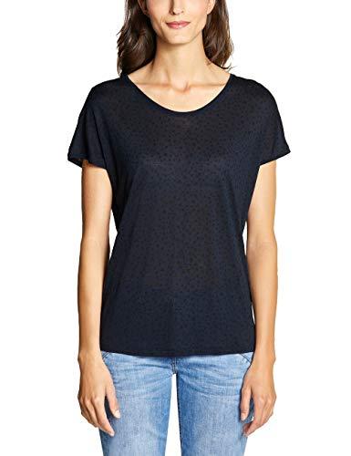 CECIL Damen 313747 T-Shirt, Mehrfarbig (deep Blue 20128), XX-Large (Herstellergröße:XXL)