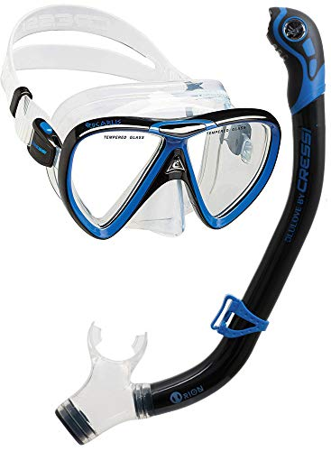 Cressi Ikarus & Orion Kits máscara Tubo, Adultos Unisex, Transparent/Black/Bleu, Un tamaño