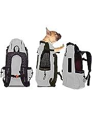 FLKENNEL Torba dla psów plecak dla średnich i małych psów, wygodny plecak torba transportowa otwierana od góry miękka boczna oddychająca siatka na podróż, przygody turystyczne, kemping na zewnątrz
