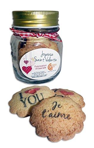 CHOCOLAT SAINT VALENTIN - BONBONNIERE SAINT VALENTIN BISCUIT PERSONNALISES - CHOCOLAT ARTISANAL- COFFRET CADEAU CHOCOLAT ST VALENTIN