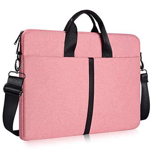 17-17.3 Inch Waterproof Laptop Shoulder Bag Ladies Women Briefcase for New HP Envy 17.3, New Lenovo 330 L340 17.3, Dell Inspiron 17/Dell G3 G7 17.3, ASUS TUF 17.3, MSI GS75 GL75 GF75 17.3' Case, Pink