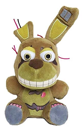 7'' FNAF's 4 Springtrap Plush Toys | Five Nights Freddy's Plush: Nightmare Fredbear Freddy, Bonnie, Foxy, Chica, Cupcake | Kids Doll, Gifts for FNAF Fan, FNAF's 4 Nightmare Collection