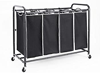 Romoon Laundry Hamper Sorter with Heavy Duty Rolling Wheels