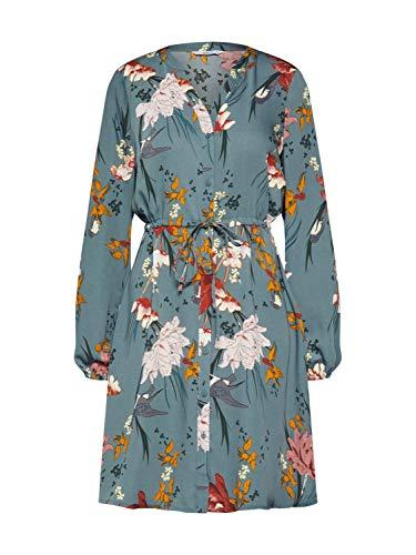 ONLY Damen ONLELEONORA L/S Short Dress WVN Kleid, Balsam Green, 38