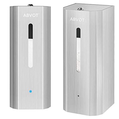 ABVOT Automatic Alcohol Dispenser, Automatic Hand Sanitizer Dispenser, 1000ml/33.8oz Capacity Liquid Dispenser for Alcohol/Disinfectant/Liquid, Spray Fine Mist, Rustproof Stainless Steel, Refillable