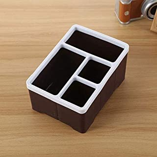 New Home Storage Desktop Storage Organizer Remote Control Caddy Holde for Desk Office Supplies(Coffee) Used for Home (Color : Coffee)