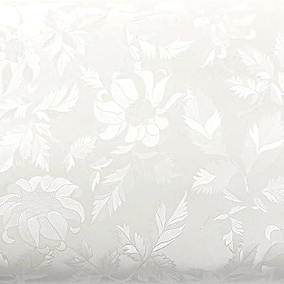 ROSEROSA Peel & Stick Backsplash Floral Butterfly Pattern Textured Vinyl Contact Paper Self-Adhesive Wallpaper Shelf Liner Table and Door Reform
