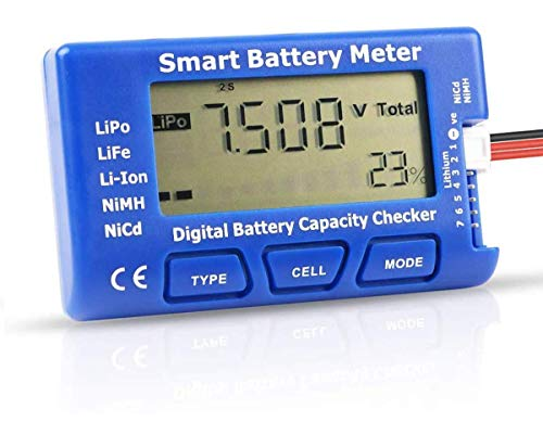 Makerfire Digitales RC Batteriekapazitätstester 5 in 1 Smart Batterie Messgerät Esc-Tester-Kapazitätsprüfgerät für LiPo-NiMH-Akkus mit Einer Lebensdauer von 1-7S