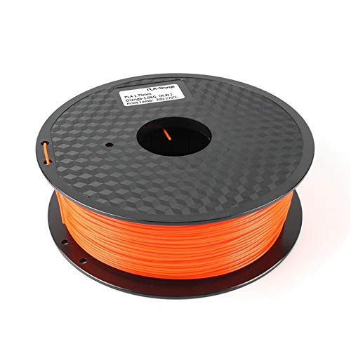 3d Printer Filament, PLA 1.75mm 1kg Printing Materials Colorful for 3D Printer 3D Pen (Color : Orange)
