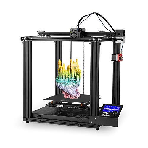 Creality Ender 5 Pro 3D Printer with Silent Mainboard Pre-installed,Capricorn Tube, Metal Exruder,220 * 220 * 300mm Build Volume, Removable Platform, Dual Y-Axis,Modular Design