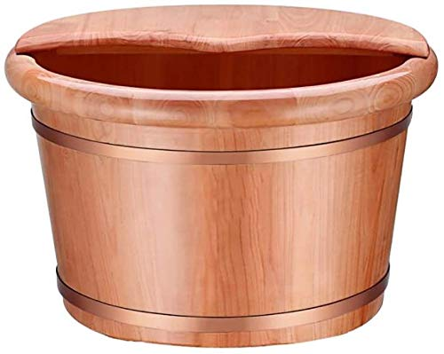 Best Price! FEPDW Wooden Foot Bath Barrel Round Deep Wood Foot Bath Feet Spa Bucket Bathtub Fatigue ...