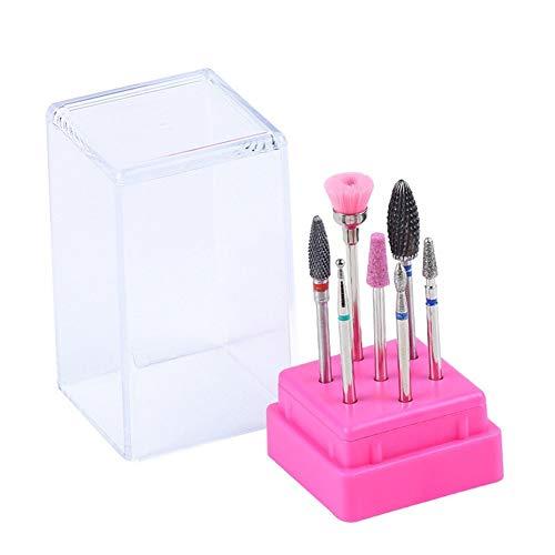 Shenyitool Hardwaretools 7pcs Ceramic Nail Salon Bohrer Set 3/32 Zoll Elektro Schleifen Polieren Maniküre Bohrer reinigen Häutchen Werkzeuge Werkzeug (Color : DH01)