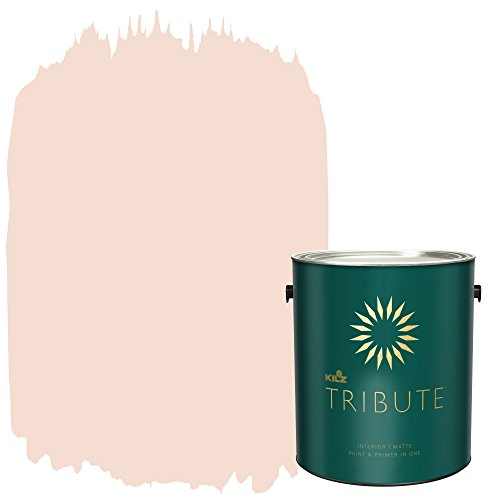 KILZ TRIBUTE Interior Matte Paint and Primer in One, 1 Gallon, Angelic Pink