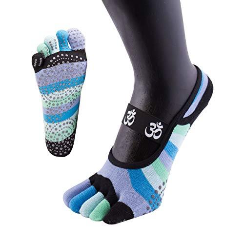 2 Paar Herren Zehensocken mit Baumwolle ideale Fußhygiene schwarz Gr 36 bis 46