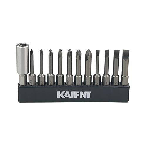 KAIFNT K456 Magnetic Phillips/Slotted Screwdriver Bit Set with Extension Bit Holder, Quick-Change 1/4-Inch Hex Shank,...